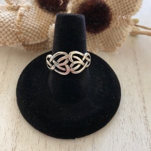 .925 Sterling Silver Knot Ring
